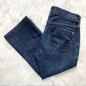 James Jeans Cropped Dry Aged Denim Jeans